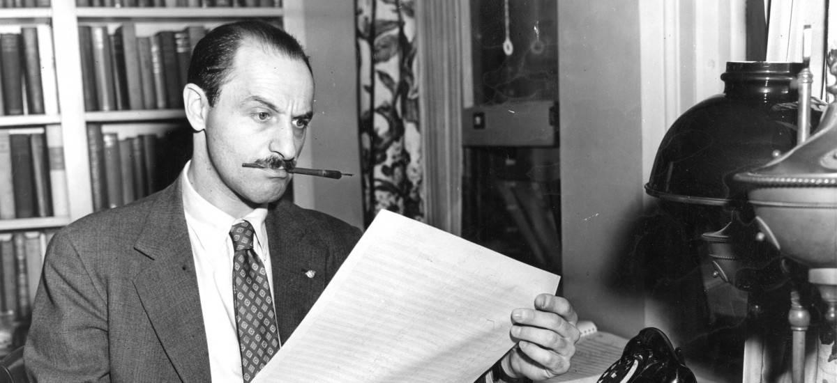 Marc Blitzstein composing, 1946