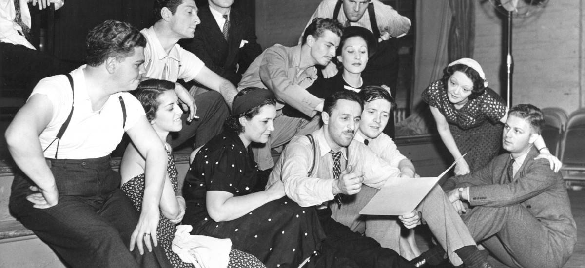 Marc Blitzstein and Cradle Will Rock cast, 1937