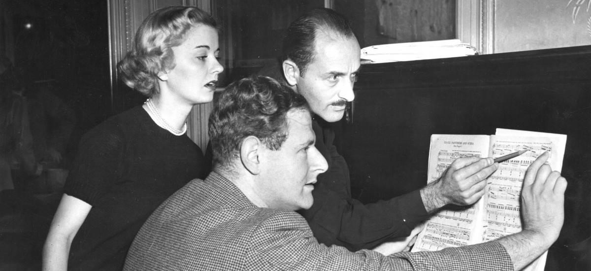 Marc Blitzstein and Norman del Mar, 1950