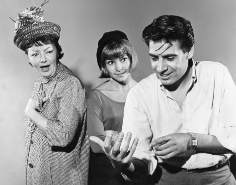 The Cradle Will Rock (1964-1965 Off-Broadway revival) Music, Lyrics & Book by Marc Blitzstein Directed by Howard Da Silva Shown from left: Nancy Andrews, Lauri Peters, Jerry Orbach